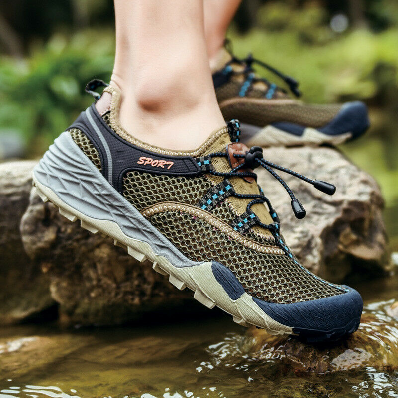 Autumn Men Big Size Hiking shoes Camping Water Fishing Outdoor Athletic Sneakers