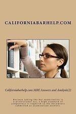 Californiabarhelp.com MBE Answers and Analysis(2) : Because Taking the Bar...