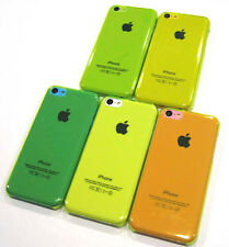 Yellow Hard Transparent Air Jacket Ultra Slim Faceplate Case Cover ~ iPhone 5C