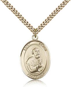 St Peter The Apostle Medal Necklace Pendant DiamondJewelryNY Religious Necklaces