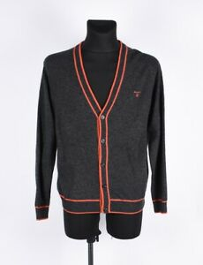 Gant-Men-Wool-Cardigan-Sweater-Size-L