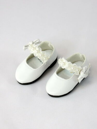 """White Lace And Pearls Dress Shoes Fits Wellie Wisher 14.5/"""" American Girl Shoes"""