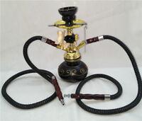 1Set Goldfish Hookah Shisha Pipe-2 Washable Hose Smoke Pipes Tobacco Narghile