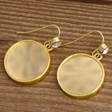 Gold Plated Opal Earrings Yellow 14k Natural Statement Stone No Chain