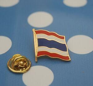 Thailand-Pin-Button-Badge-Anstecker-Flaggenpin-Anstecknadel-geschwungen-Asien