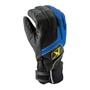 NEW-Klim-Powerxross-Leather-Gloves-Blue-Snowmobile-ATV-Water-Resistant-Glove
