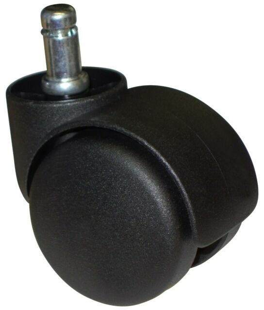 Standard Office Chair Replacement Twin Wheel Casters For Carpet 5 PC SET #CH-50