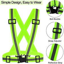 Adjustable Safety Reflective Vest Belt Stripe Strap Night Running Jogging Biking