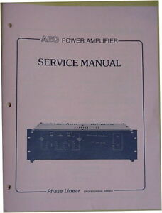 phase linear a60 amplifier service manual 34 pages ebay rh ebay com phase linear 200 service manual phase linear 3000 service manual