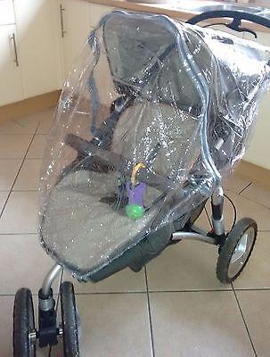 New RAINCOVER PVC Zipped to fit Venicci Carrycot /& Pushchair Seat Unit
