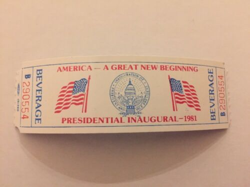Three different 1981 /& 1985 President Ronald Reagan Inauguration Event Tickets