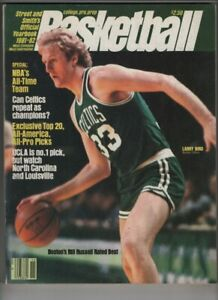 Street & Smith's Basketball Yearbook 1981-82 Bill Russell Larry Bird 082720nonr