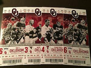 Oklahoma Sooners 2015 NCAA football ticket stubs - One ...