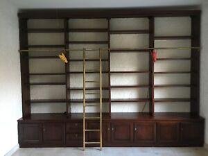 Bibliothequede Grandes Dimensions (3,85 X 2,87) En Acajou Massif Une Large SéLection De Couleurs Et De Dessins
