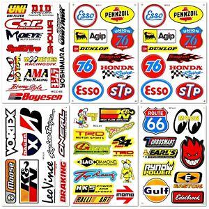 Automotive-Car-Truck-Garage-Sponsor-ATV-Racing-D6731-Pack-6-Vinyl-Decals-Sticker