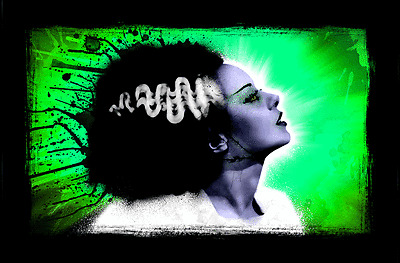 "BRIDE of FRANKENSTEIN POP CANVAS 24/""x36/"" Canvas Art Print"