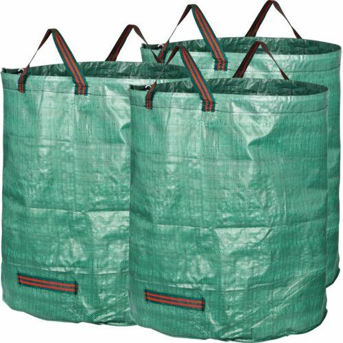 Lot 3 Sacs de  Jardin 272 L indéchirables compostage dechets verts feuillage