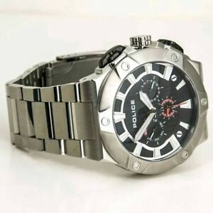 POLICE-Men-039-s-Silver-Cyclone-Watch-PL12740JS-02M
