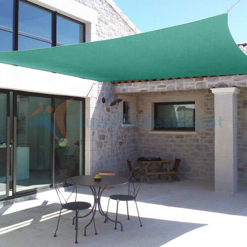 Sun Shade Sail Permeable Turquoise Outdoor Pool Patio Deck Canopy Awning UV Top