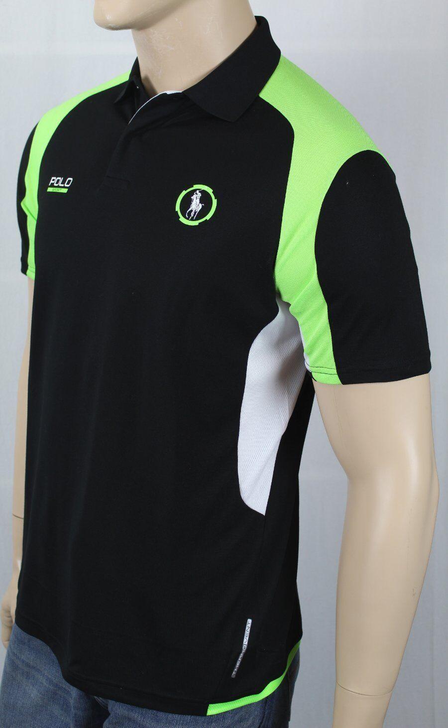 Polo Ralph Lauren Sport Performance Black White Green Shirt NWT