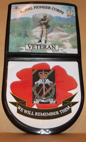 ROYAL PIONEER CORPS CAR WINDOW REMEMBRANCE STICKER.