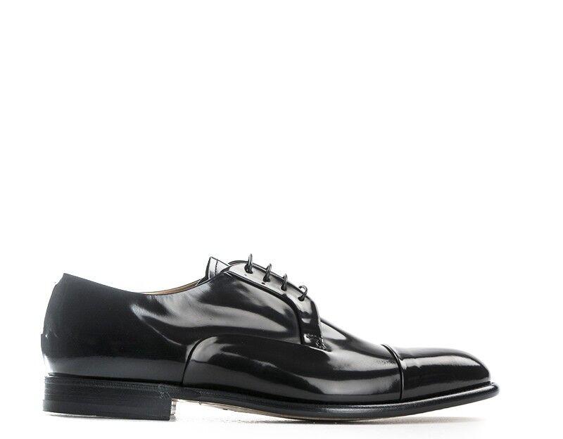 Zapatos Fabi Hombre con Cordones Hombre Negro Cuero Natural Fu7892a