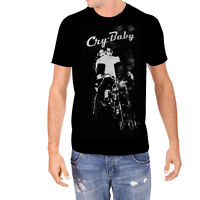 Rock Rebel Mens Cry Baby With Motorcycle Black T Shirt