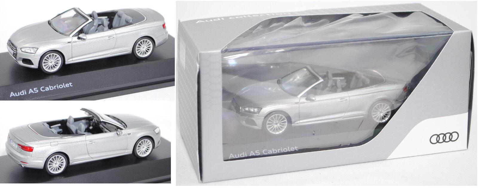 Minimax 5011705331 Audi A5 Cabriolet, florettsilver, 1 43, Werbeschachtel