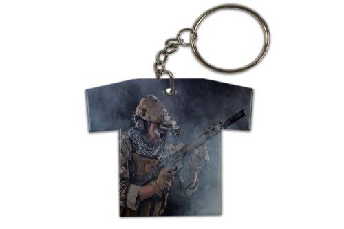 Schlüsselanhänger Retro Motiv Soldat Trikot bedruckt
