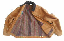DICKIES Mens Jacket BLANKET LINED Farm Barn Work Chore Size LARGE Canvas TAN