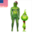 US!Adults//Kids Christmas Party Cosplay Costume Mask Grinch Xmas Deluxe Jumpsuits