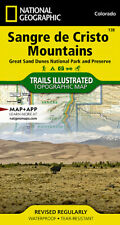 National Geographic Trails Illustrated Map Ser.: Sangre de Cristo Mountains Great Sand Dunes National Park and Preserve by National Geographic Maps Staff (Sheet Map, Folded)