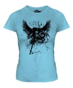 Grunge Guitare Electrique Imprime Mode T Shirt Femme Tatouage Rock