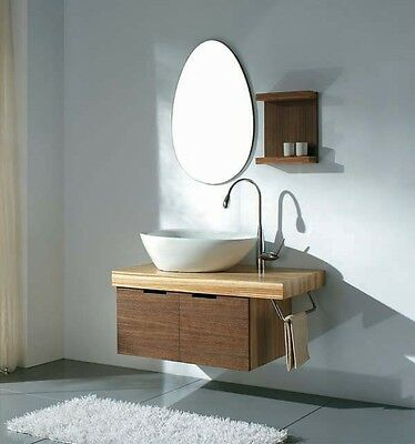 VainTempest 'Lago' Vanity Unit complete with mirror + wall shelf and tap