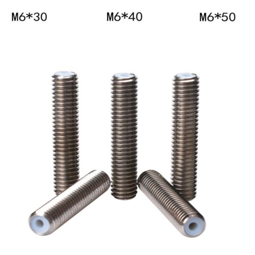 M6x30//40//50mm Stainless Steel Nozzle Throat For 3D Printer MK8 Hot End