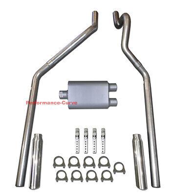 """04-08 Dodge Dakota Mandrel Bent Dual Exhaust w// MaxFlow 14/"""" Muffler"""