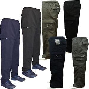 Para Hombre Polar Forrado Termico Elastico Pantalones Cargo Combate Pantalones De Trabajo Pantalones Ebay