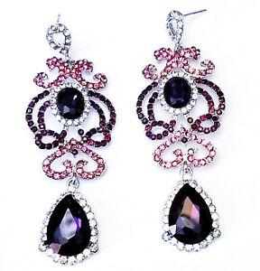 Chandelier-Earrings-Rhinestone-Austrian-Crystal-3-1-in-Purple