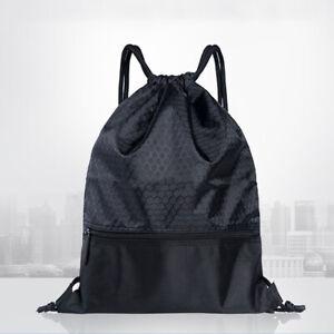 Mens Womens Drawstring Bag Sports Gym Sack Swimming Anti-splash School  Backpack | eBay