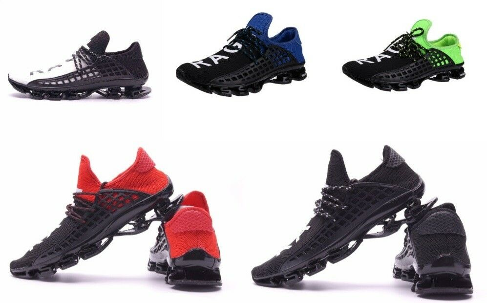 Men Sport shoes Lace Up Exercise Athletic shoes Breathable Mesh Letter shoes