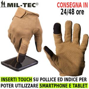 Guanti-Combat-Touch-Militari-Miltec-Guanto-Militare-TAN-Coyote-Caccia-Softair