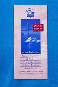 Alameda-Oakland-Ferry-Sept-27-1999-thru-2-27-2000-Timetable