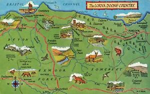 Map-Postcard-The-Lorna-Doone-Country-Somerset-Devon-Exmoor-BM5