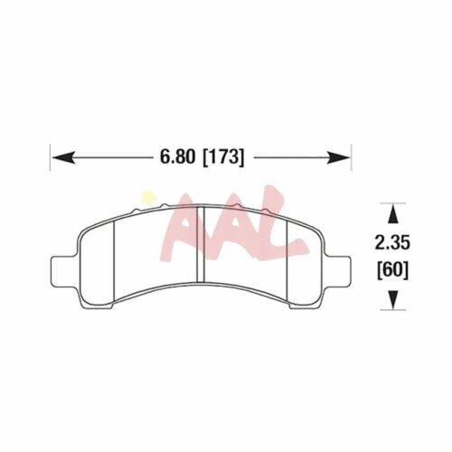 4 pcs AAL Rear BRAKE PADS For 2005 2006 2007 CHEVROLET EXPRESS 2500