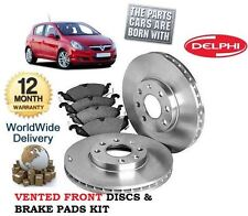 FOR VAUXHALL OPEL CORSA D 1.0 2006-2011 FRONT BRAKE DISCS SET & DISC PADS KIT