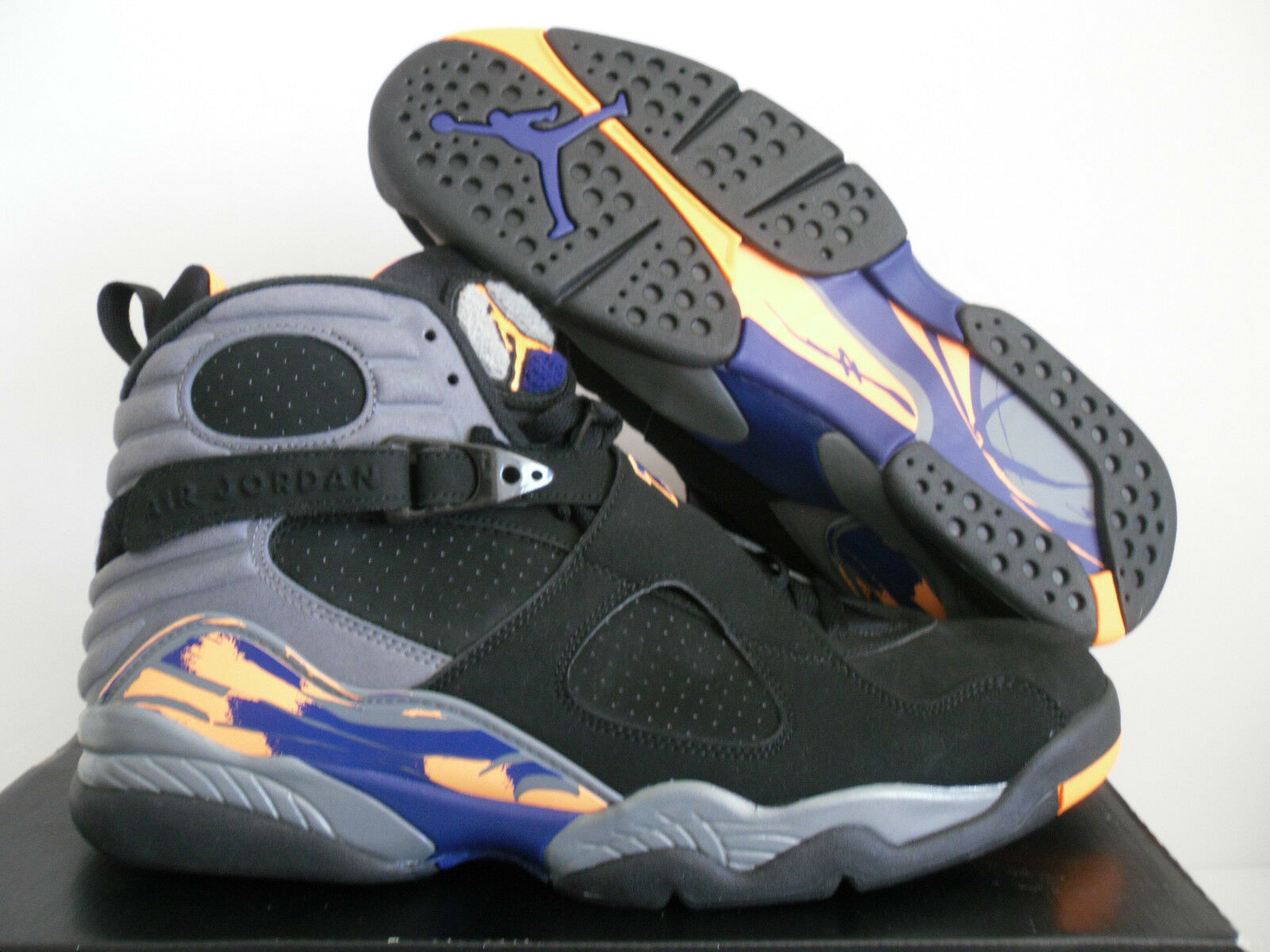 NIKE AIR JORDAN 8 gris RETRO Noir -BRIGHT CITRUS- gris 8 -ROYAL Bleu SZ 14 84d2e2