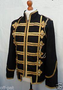 nubuck steampunk dorata Cappotto tunica rock giacca pelle treccia Hussars in militare in wwXqUxZT