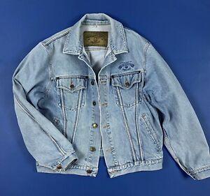 Armani-jeans-jacket-denim-vintage-uomo-usato-M-tg-46-giacca-giubbotto-blu-T6401