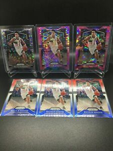 (6) 2019-20 Prizm LOT with Pink Pulsar 2/42 - Malcolm Brogdon - Pacers *SEE DES*