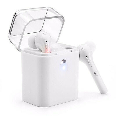 FUN 7 Twin in Ear Bluetooth Headset, Mini Earbud Headphones With Charging Case